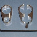 Handlebar Wiring Clamps (2) (Brushed Finish)